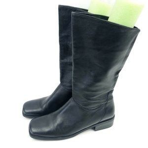 Naturalizer Black Leather Boots 11″ Shaft 1.5″ Hee